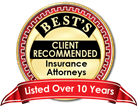 Rated Best Attorneys Over 10 Years